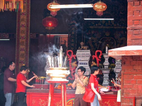 Inside Chinese Temple KL